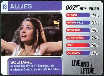 Solitaire #13 Allies 007 Spy Files 2002 James Bond Trade Card (C1854)