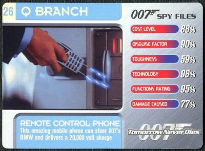 Remote Control Phone #26 Q Branch 007 Spy Files 2002 James Bond Trade Card C1857