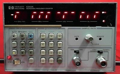 HP - Agilent - Keysight 5342A Frequency Counter, 10Hz to 18GHz 2818A12279