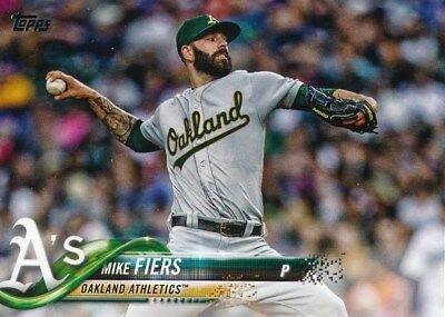 US225 MIKE FIERS 2018 Topps Update ATHLETICS