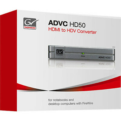 NEW Grass Valley GV Thomson ADVC HD50 Real-Time HDMI to HDV Converter for PC/Mac