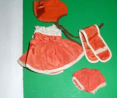 "1950s Vintage Doll clothes DRESS outfit Virga Muffie Wendy Kin 8"" Vogue Ginny"