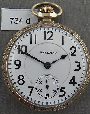 Hamilton 992, 21 Jewel, Railroad Grade Pocket Watch, Ca 1921