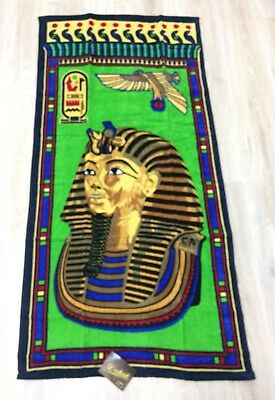 Lot Of 6 Egyptian Cotton King Tut Ancient Egypt Beach Bath Towel Made in Egypt