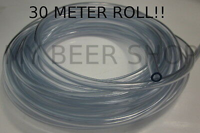 30M!! BEER GAS LINE 6mm ID 9mm OD FOOD GRADE FLEX TUBE TUBING HOSE HOME BREW KEG