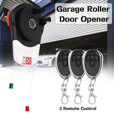 110V 600N Garage Roller Door Auto Opener Motor 3 Remote Controls For 16.5m²