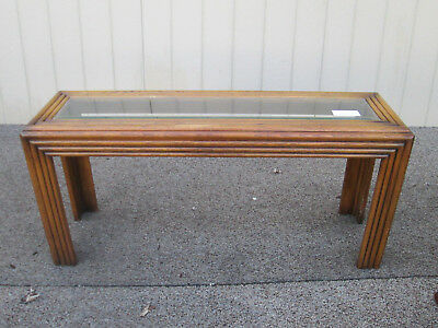 56690   LANE Furniture Bamboo style Oak  Library Sofa Hall Table Stand