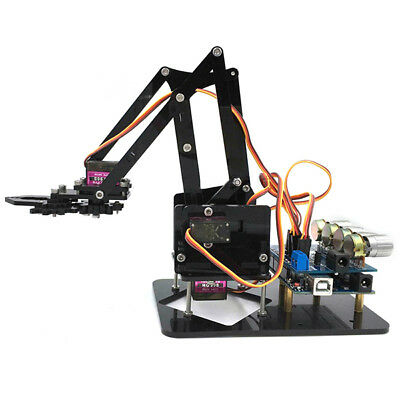 DIY 4DOF Acrylic Robot Arm 4 Axis Rotating Mechanical Robot Arm Arduino Kit
