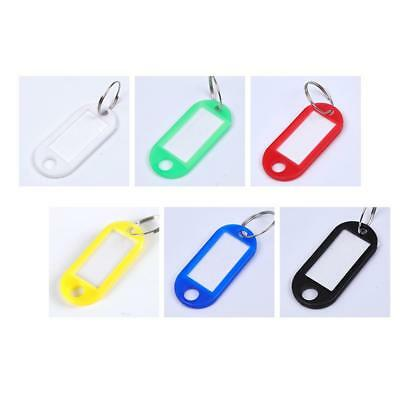40 PCS Key Tags With Ring Keychain Key ID Label Luggage Name Tag Plastic Tags