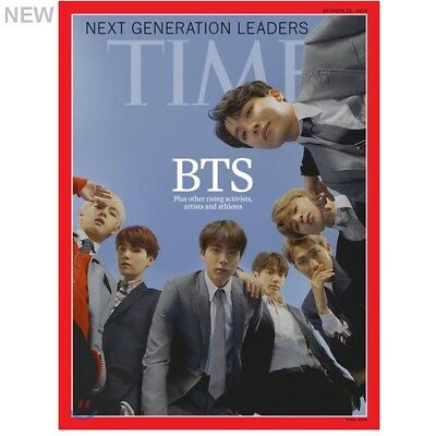 NEW BTS Time Asia Edition Coverman October 2018 + [ Unfolded Poster Tube ]