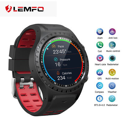LEMFO M1 Smart Watch Phone 2018 Bluetooth SIM GPS Heart Rate For Android iPhone