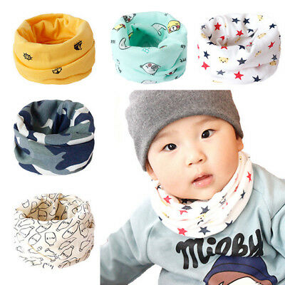 Kid Baby Scarf Winter Soft Cotton Infinity Neck Warmer Snood Scarves Bandana Bib