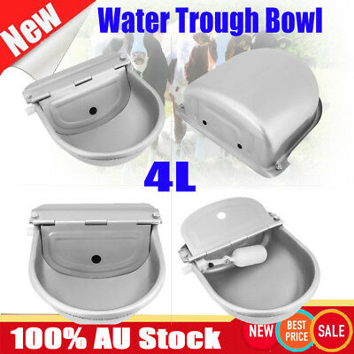 4L Automatic Stainless Water Trough Bowl Dog Horse Chicken Sheep Cow Drinking AU