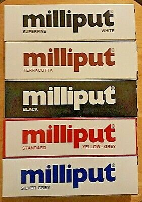 MILLIPUT Epoxy Resin Putty STANDARD,TERRACOTTA,BLACK,SUPERFINE WHITE, SILVER