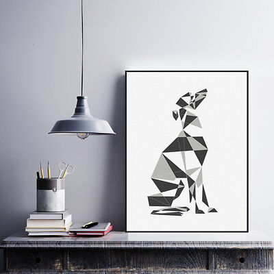 Abstract Dog Geometric Poster Print Nordic Home Decor Wall Art Canvas Painting
