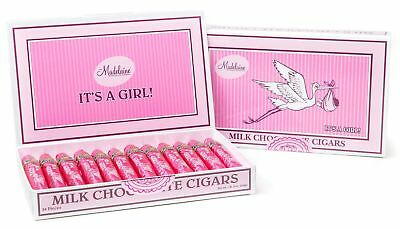 It's a Girl Baby Gift - Madelaine Premium Milk Chocolate Cigars Wrapped I... New