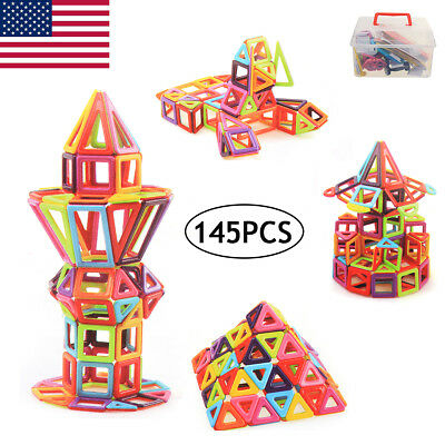 145Pcs Magnetic Building Blocks Construction Children Toys Educational Block Kid
