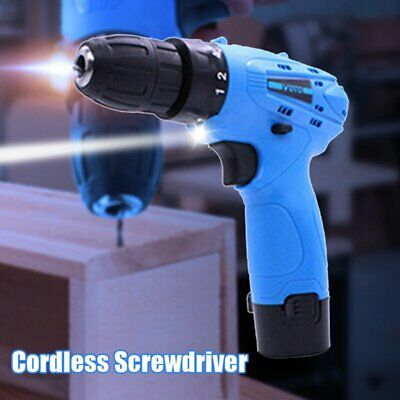 12V Cordless Drill Electric Screw-driver Lithium-ion Rechargeable Power Tool Set