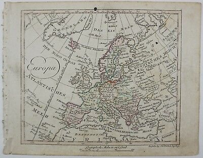 Europe 1812 Rare Europe Continent Original Antique Map Johann Walch