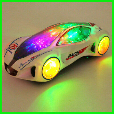 3D Super Car Electric Toy With Flashing Wheel Lights Toy Birthday Gift for Boy