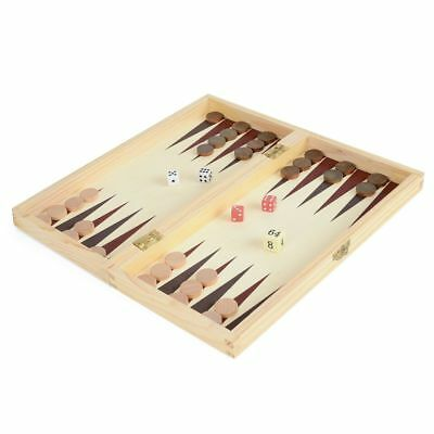 Traditional Games - Wooden boxed 3 in 1 Chess Draughts & Backgammon set