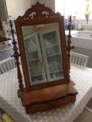 Swedish antique Dressing table mirror with drawer