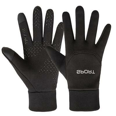 Mens Womens Reflective Warm Gloves Touch Screen Thermal Walking Sports Running