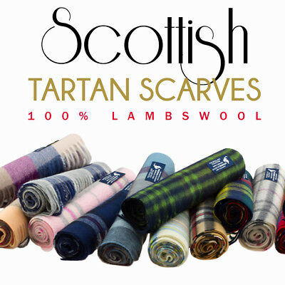 Kiltane of Scotland 100% Lambswool Scottish Multicolour Warm/Soft Tartan Scarves