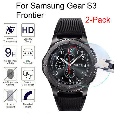 2XPcs 9H HD Tempered Glass Screen Protector Film For Samsung Gear S3 Frontier