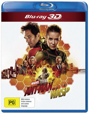 Ant-Man and the Wasp (3D Blu-ray)  - BLU-RAY - NEW Region B