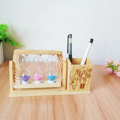 Creative Home Stationery Stand Pencil Cup Wood Pencil Holder Pen Pot