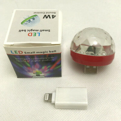 USB Mini LED RGB Disco Stage Light Party Club DJ KTV Magic Phone Ball Lamp NEW Y