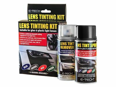 E-Tech Black Smoke Tint Car Headlight Lens Spray Kit Light Tuning Remover