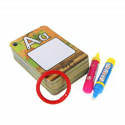Children Water Coloring Cards & Drawing Pens Graffiti Doodle Board Reusable 6A