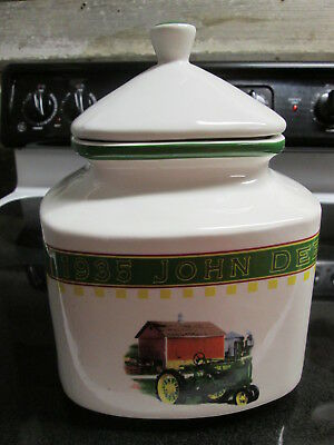 "Vintage 10"" John Deere Cookie Jar 1935 Memories by Gibson GREAT CONDITION"