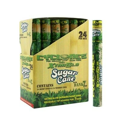 2x Tubes Cyclone Sugar Cane Pre Rolled Cone- 2 Cones  - Sealed Sweet Tasteful