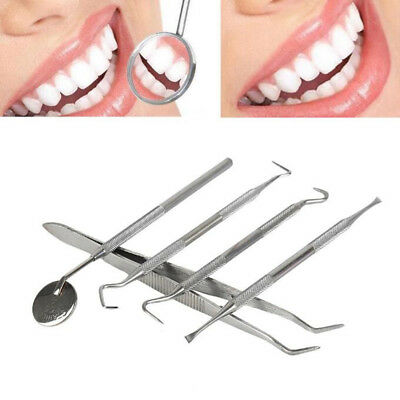 5X Stainless Steel Dental Oral Sculpture Kit Tool Deep Cleaning Teeth Care Se LC