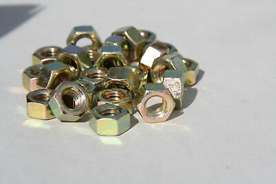 Your Choice   1/4-20  Hex Finsihed Nuts Grade 8 Zinc Yellow
