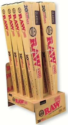 5x Packs RAW Classic RAWKET 20 Stage Unrefined Supernatural Emperador King Size