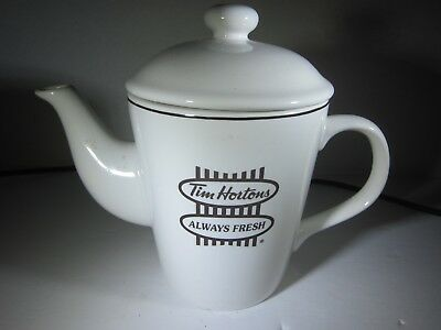Collectable Tim Horton Coffee, Covered Teapot with Handle and Advertising
