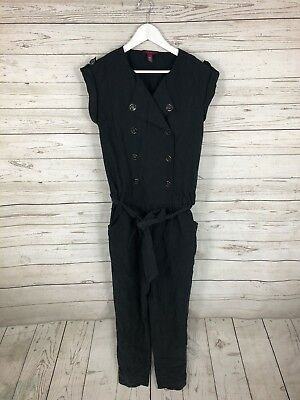 7a9cdce743e TED BAKER Jumpsuit - Size 2 UK10 - Black - Great Condition - Women s