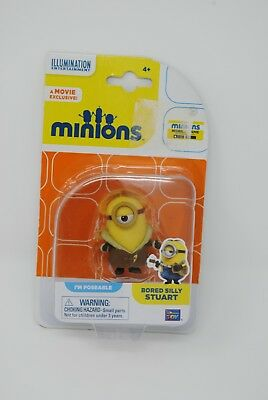 Minions Movie - BORED SILLY STUART -5cm Poseable Figure, Thinkway Toys 20221