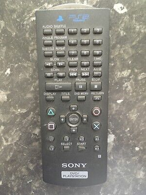 Official Sony PlayStation 2 DVD Remote Control PS2 Black