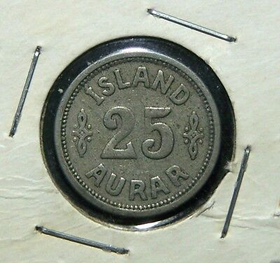 Iceland - 1923 - 25 Aurar - Great Coin!