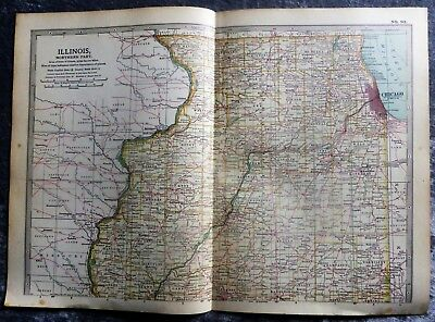1903 Map Of Northern Illinois, U.S.A.