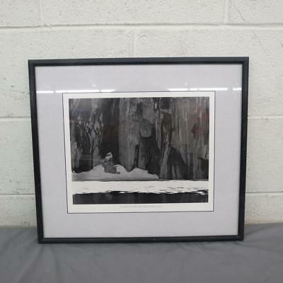 """Ansel Adams Frozen Lake and Cliffs Matted & Framed Black & White Print 17"""" x 19"""""""