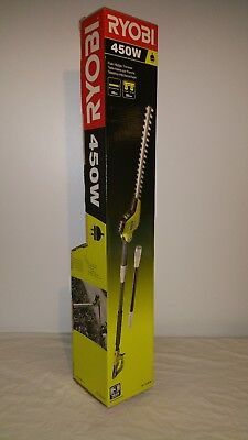 Ryobi RPT4545M Pole Hedge Trimmer with Extension Pole, 450 W - Green/Black new