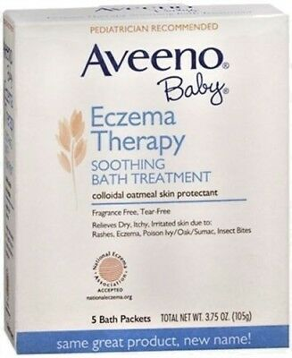 AVEENO Baby Fragrance Free Soothing Bath Treatment Packets 5 Each Exp 02/21