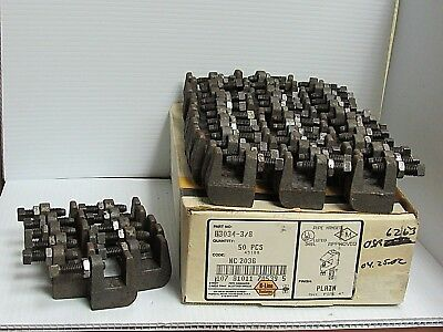 New Lot Of 50 B-Line Systems Reversible Beam Clamp B3034-3/8