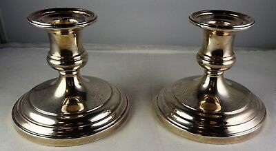 Pair Of S. Kirk & Son Sterling Silver Weighted Candlesticks - Heavy